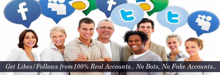 Buy Facebook Likes & Fans, Instagram likes and Real Twitter